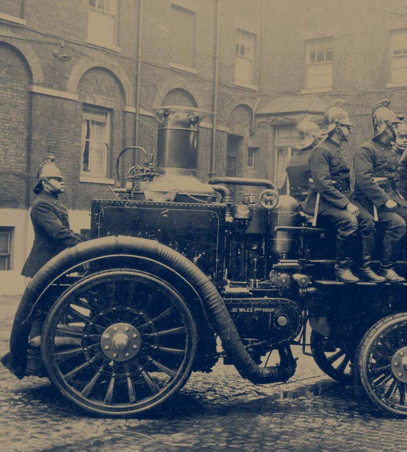 The Fire King, by Merryweather and Sons – a self propelled pump engine