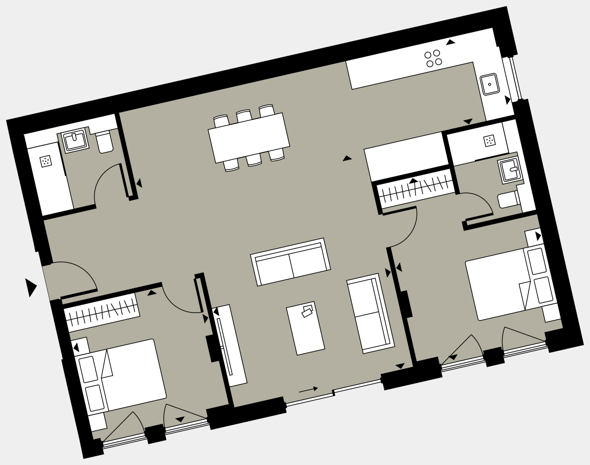 Brigade Court London SE1 Apartment floorplan - L0 2 Cuthbert House