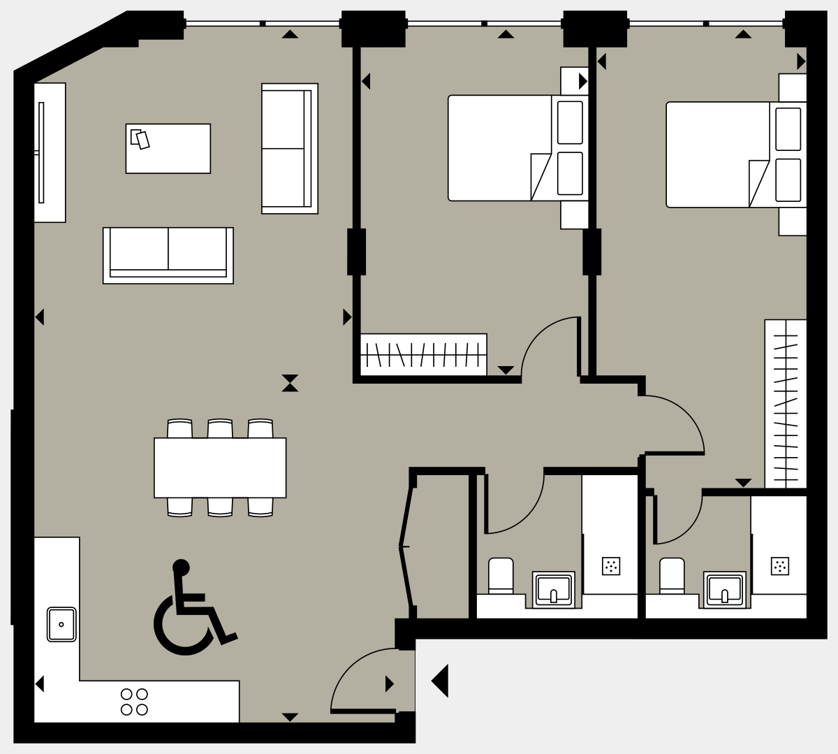 Brigade Court London SE1 Apartment floorplan - L1 1 Errington House
