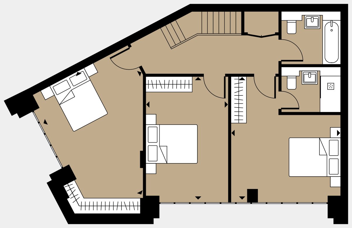 Brigade Court London SE1 Apartment floorplan - L0 15 Sawyer Street