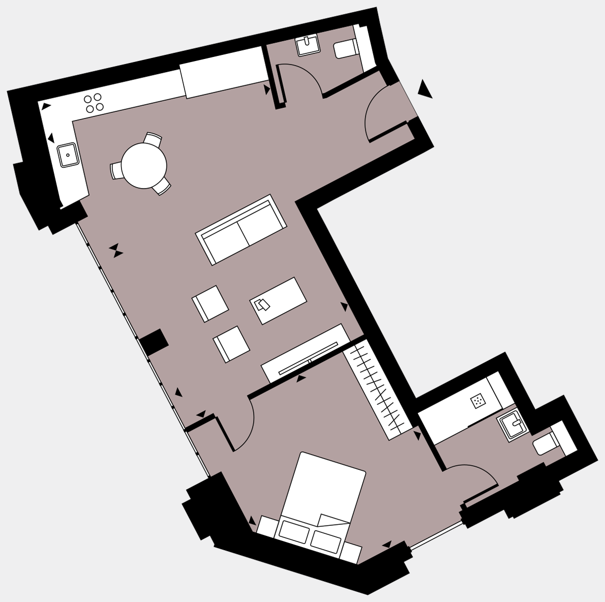 Brigade Court London SE1 Apartment floorplan - L1 2 Walton-Clark-House