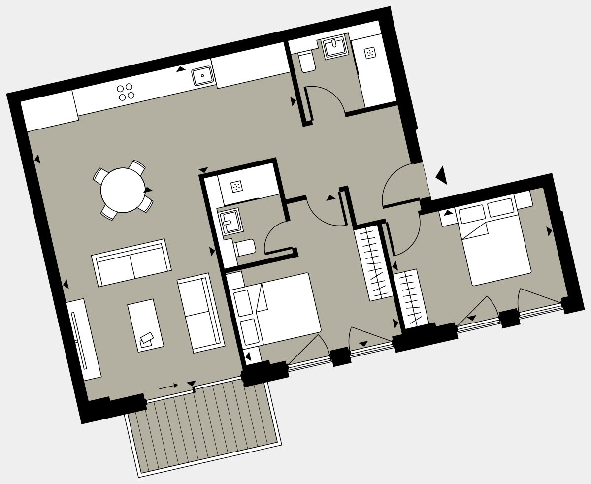 Brigade Court London SE1 Apartment floorplan - L1 3 Cuthbert House