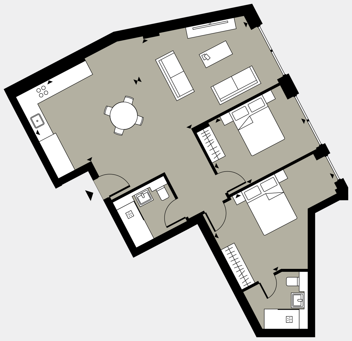 Brigade Court London SE1 Apartment floorplan - L1 3 Errington House