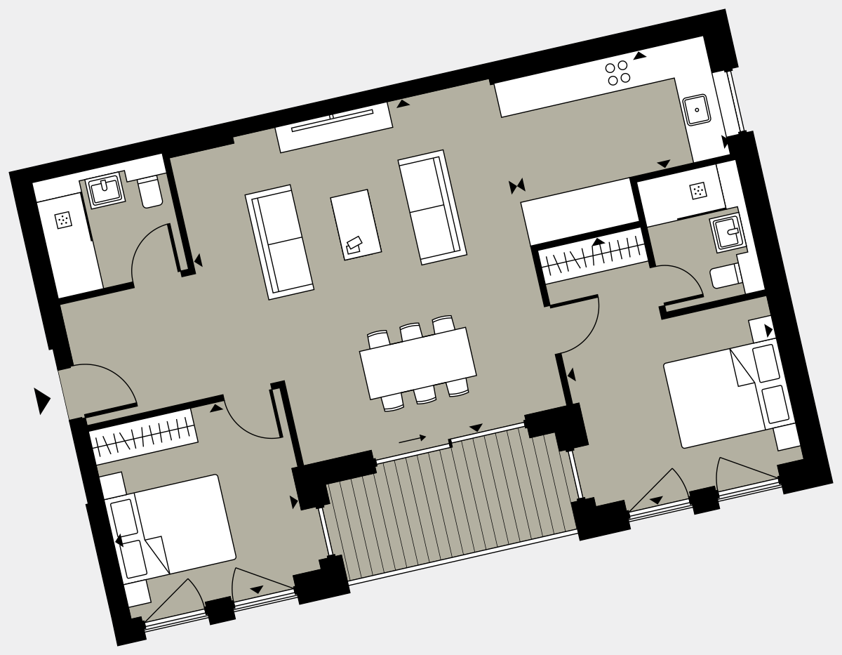 Brigade Court London SE1 Apartment floorplan - L1 4 Cuthbert House