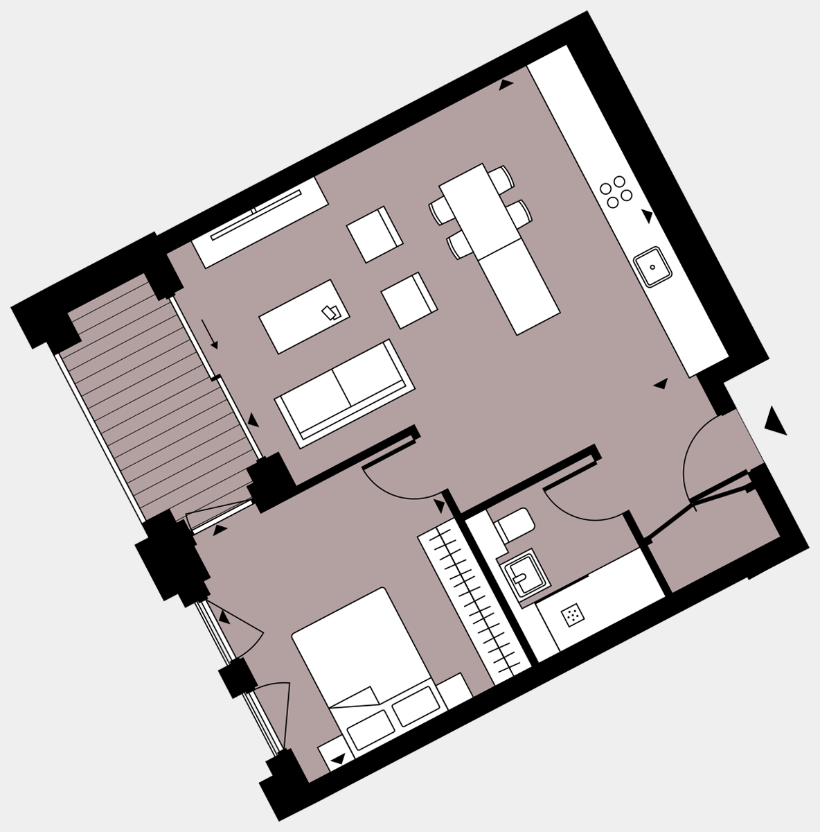 Brigade Court London SE1 Apartment floorplan - L2 12 Errington House