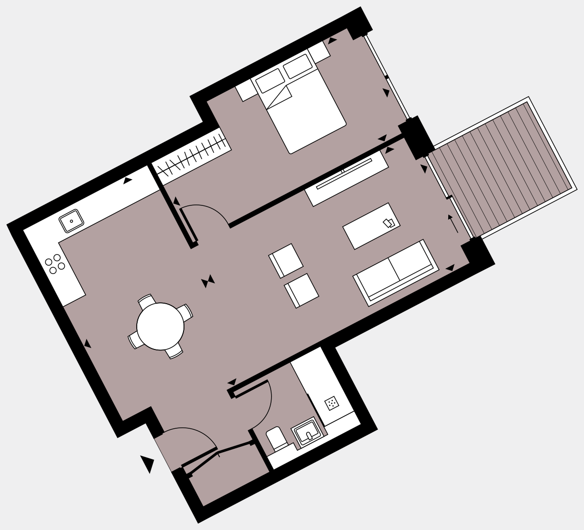 Brigade Court London SE1 Apartment floorplan - L2 13 Errington House