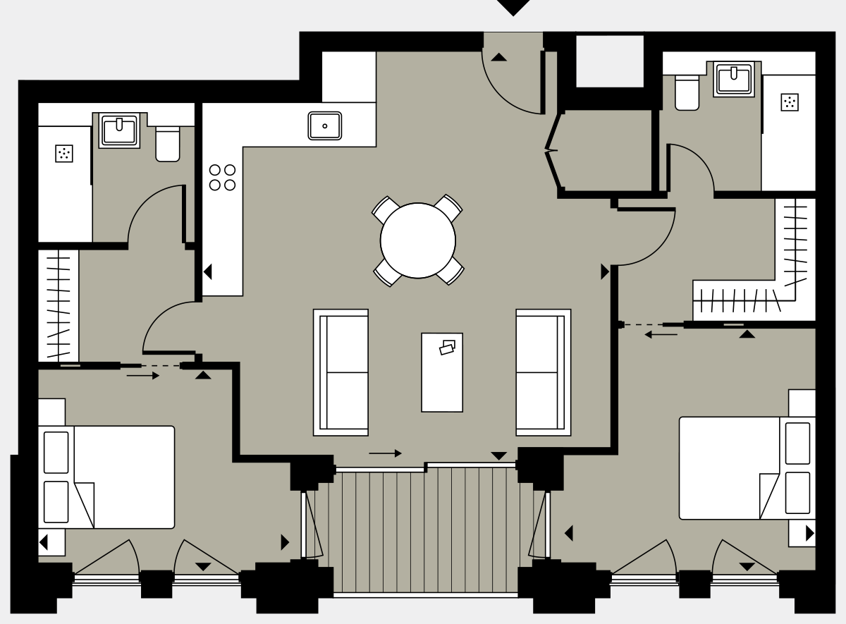 Brigade Court London SE1 Apartment floorplan - L2 6 Errington House