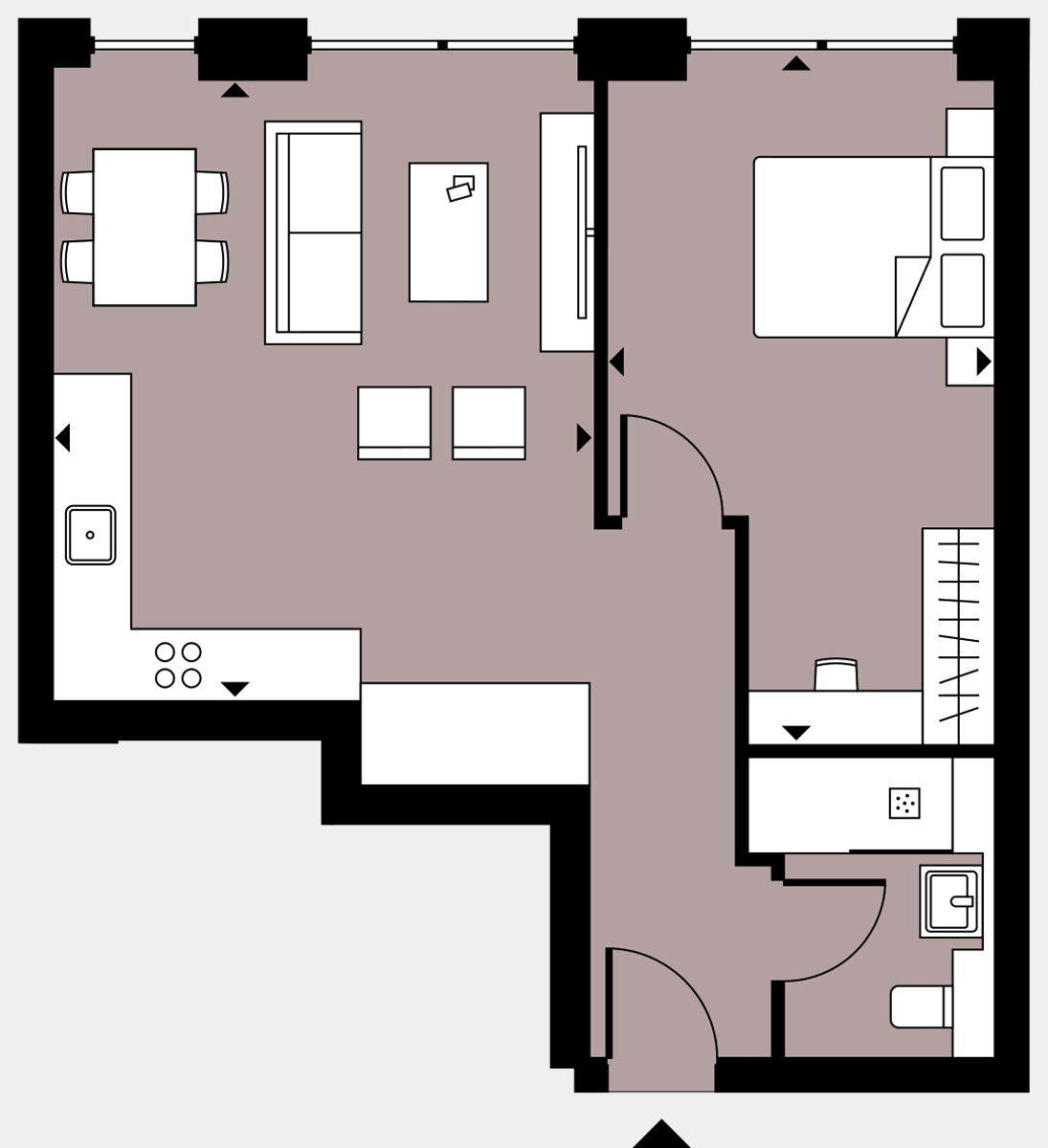 Brigade Court London SE1 Apartment floorplan - L3 15 Errington House