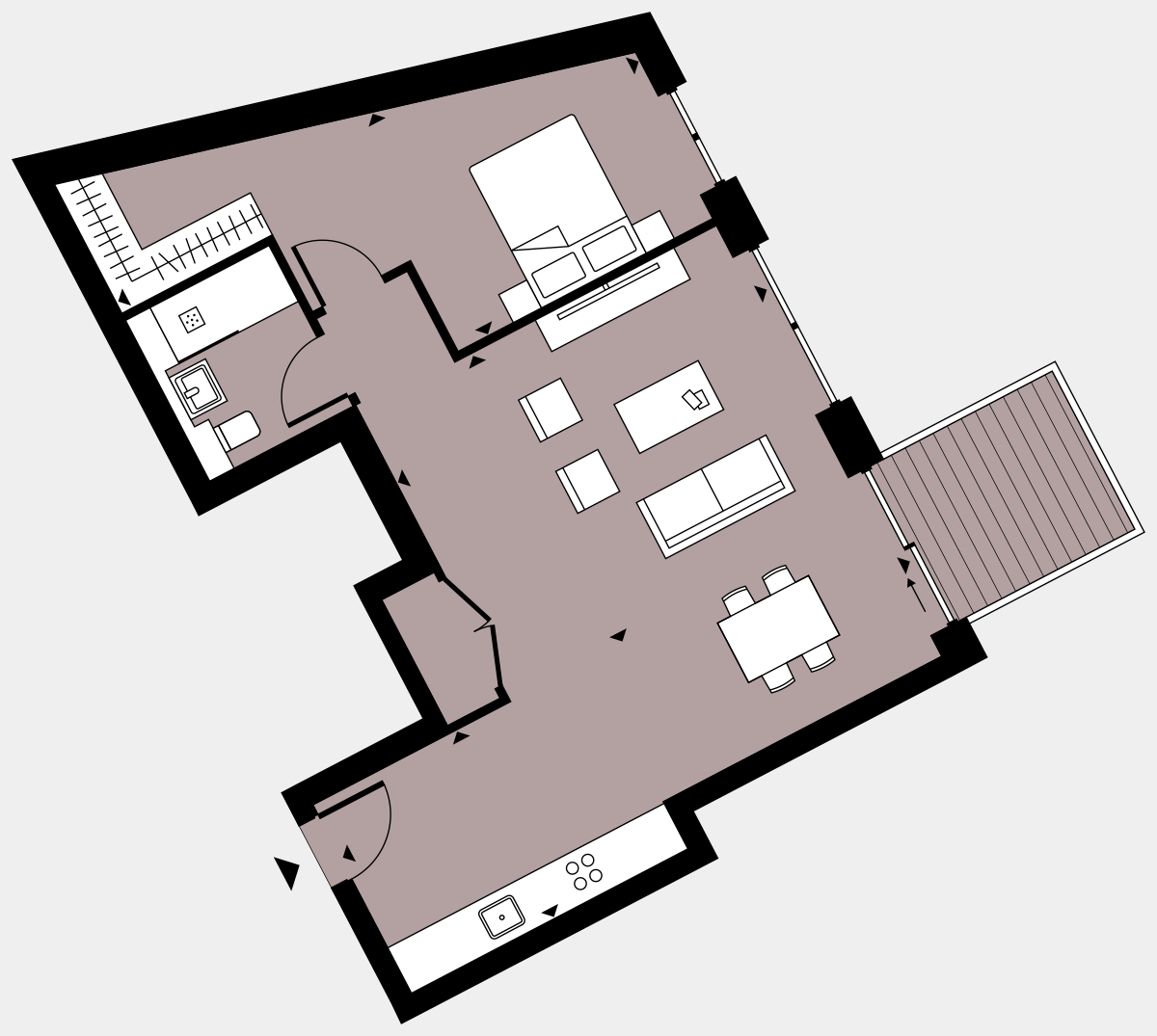 Brigade Court London SE1 Apartment floorplan - L3 5 walton-Clark-House