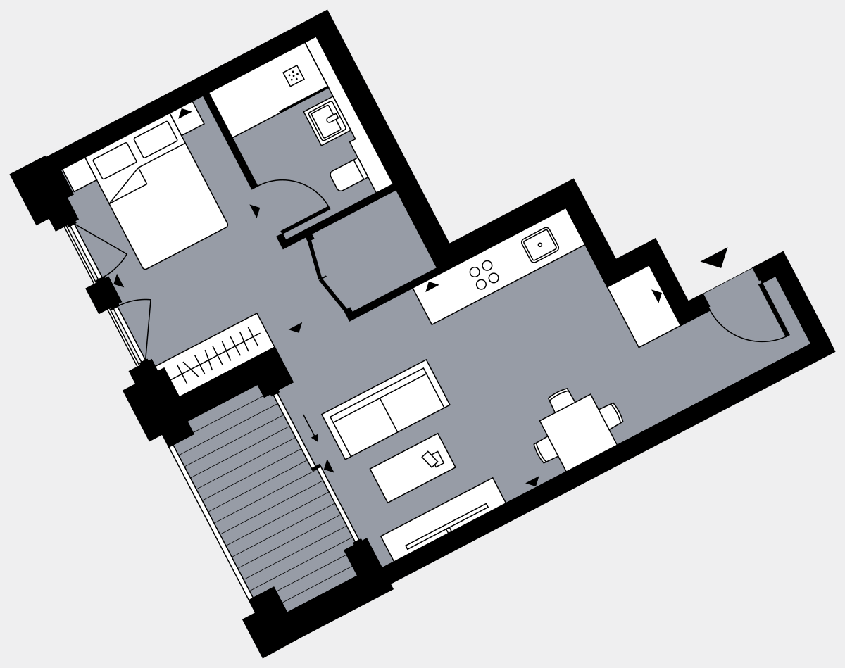 Brigade Court London SE1 Apartment floorplan - L3 6 Walton-Clark-House
