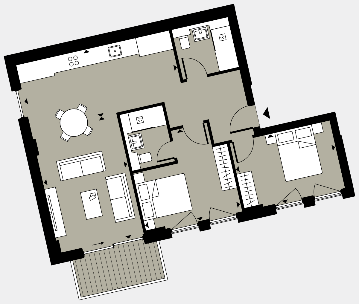 Brigade Court London SE1 Apartment floorplan - L3 7 Cuthbert House