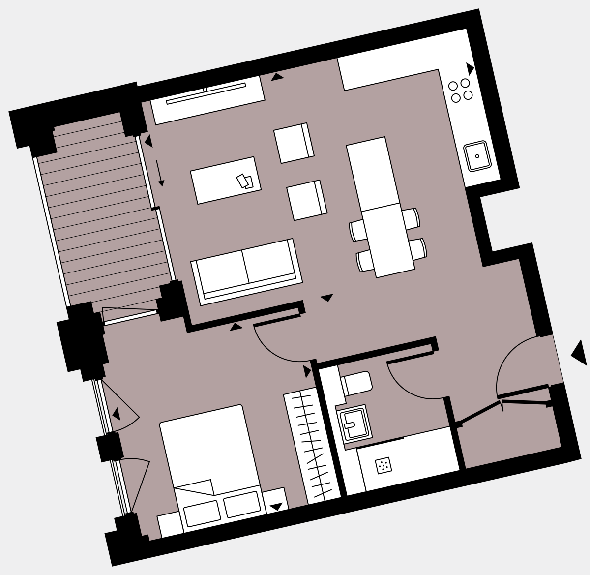 Brigade Court London SE1 Apartment floorplan - L3 9 Walton-Clark-House