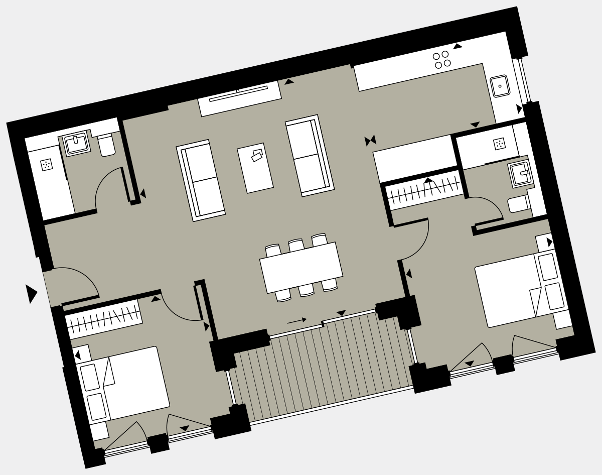 Brigade Court London SE1 Apartment floorplan - L4 10 Cuthbert House