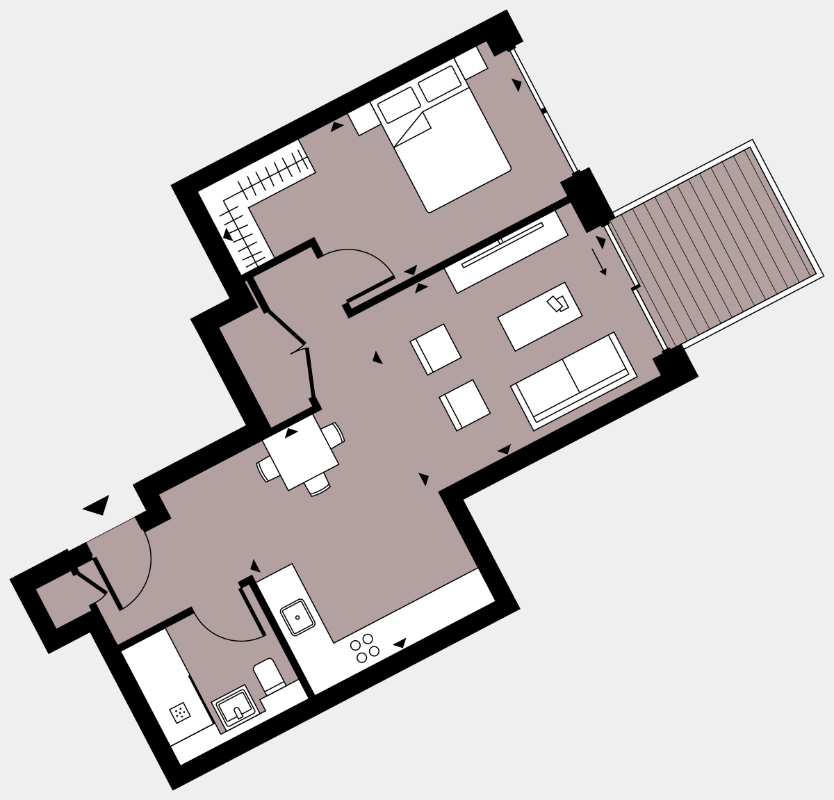 Brigade Court London SE1 Apartment floorplan - L4 11 Walton-Clark-House