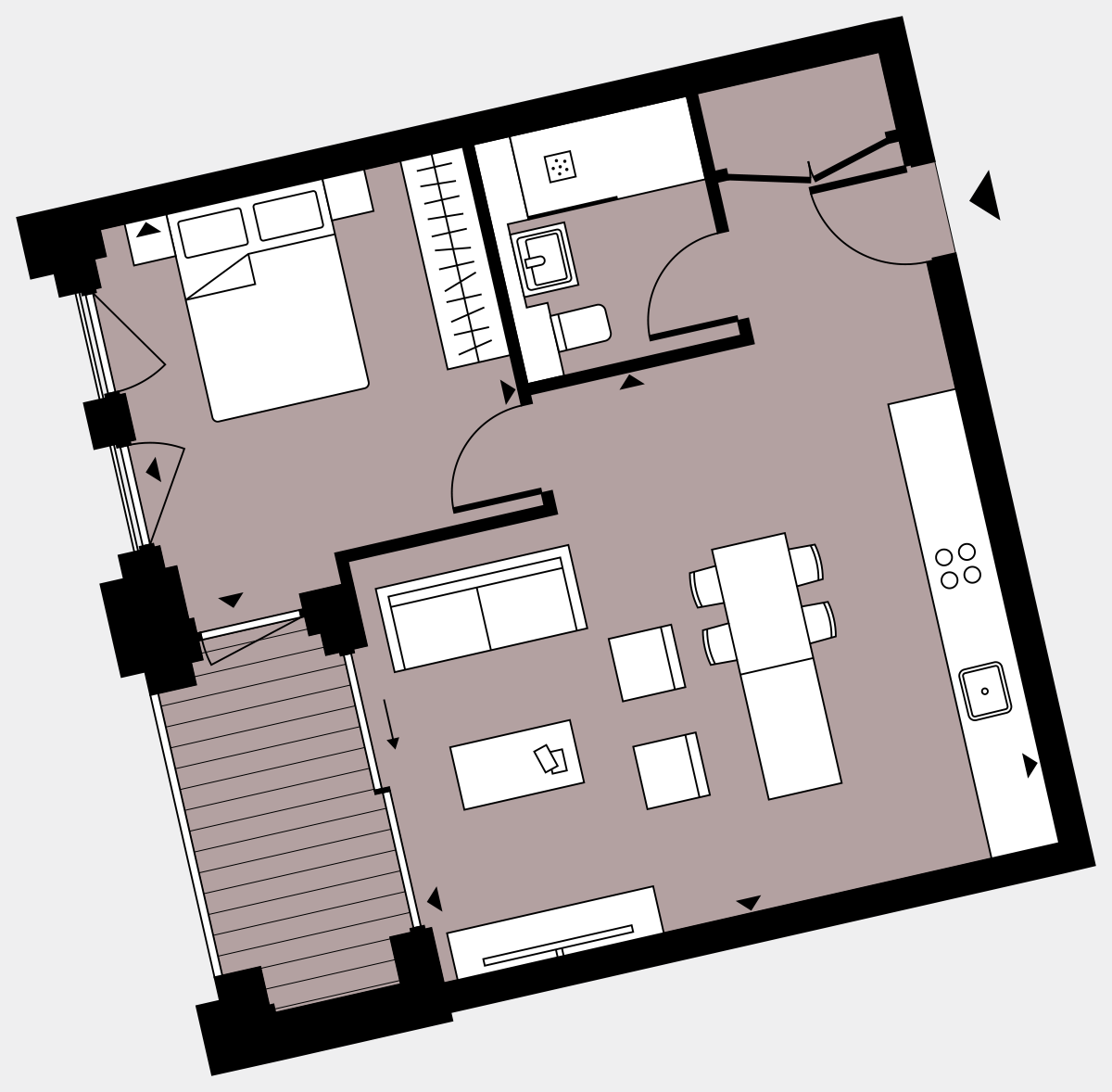 Brigade Court London SE1 Apartment floorplan - L4 13 Walton-Clark-House