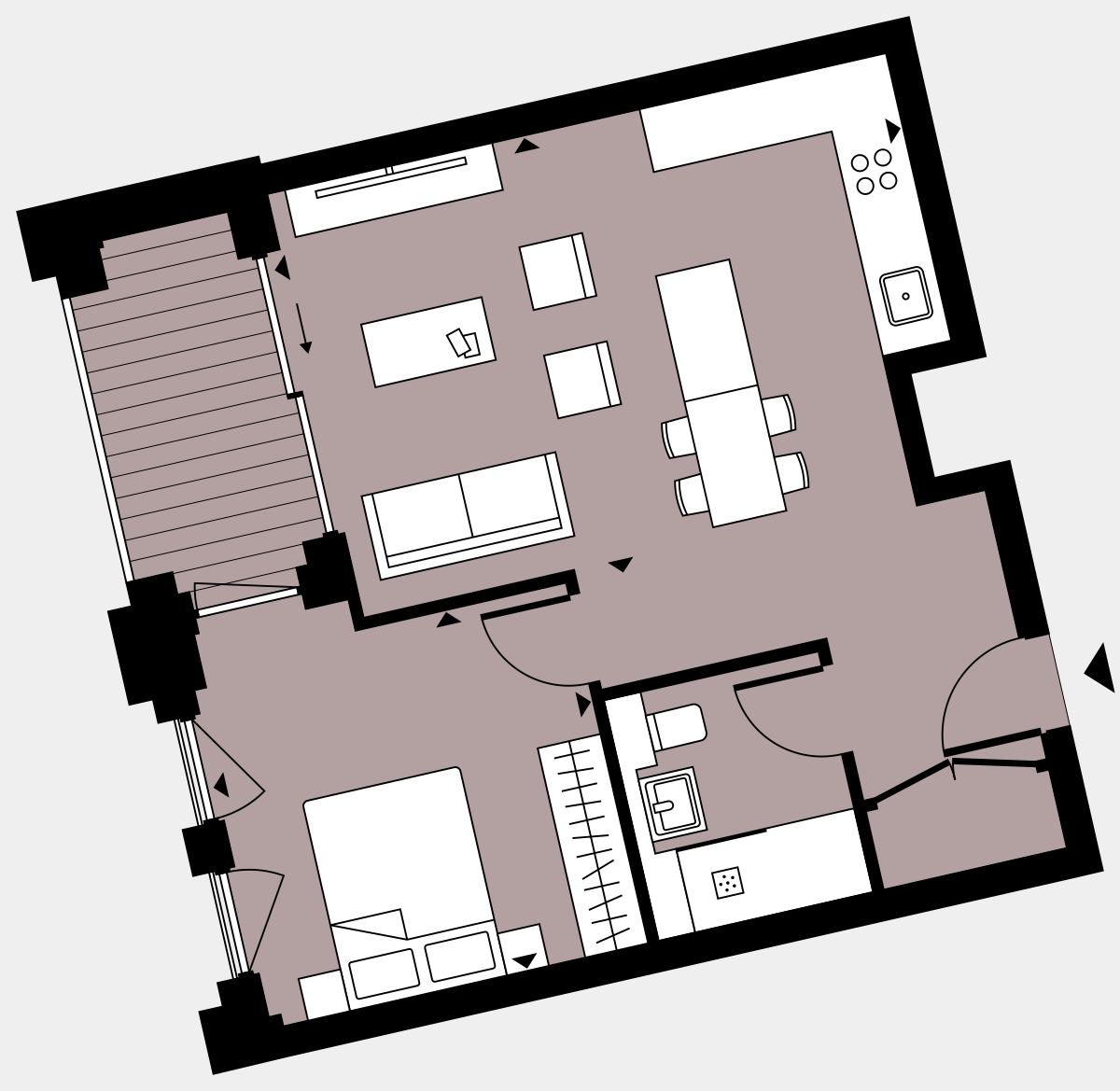 Brigade Court London SE1 Apartment floorplan - L4 14 Walton-Clark-House