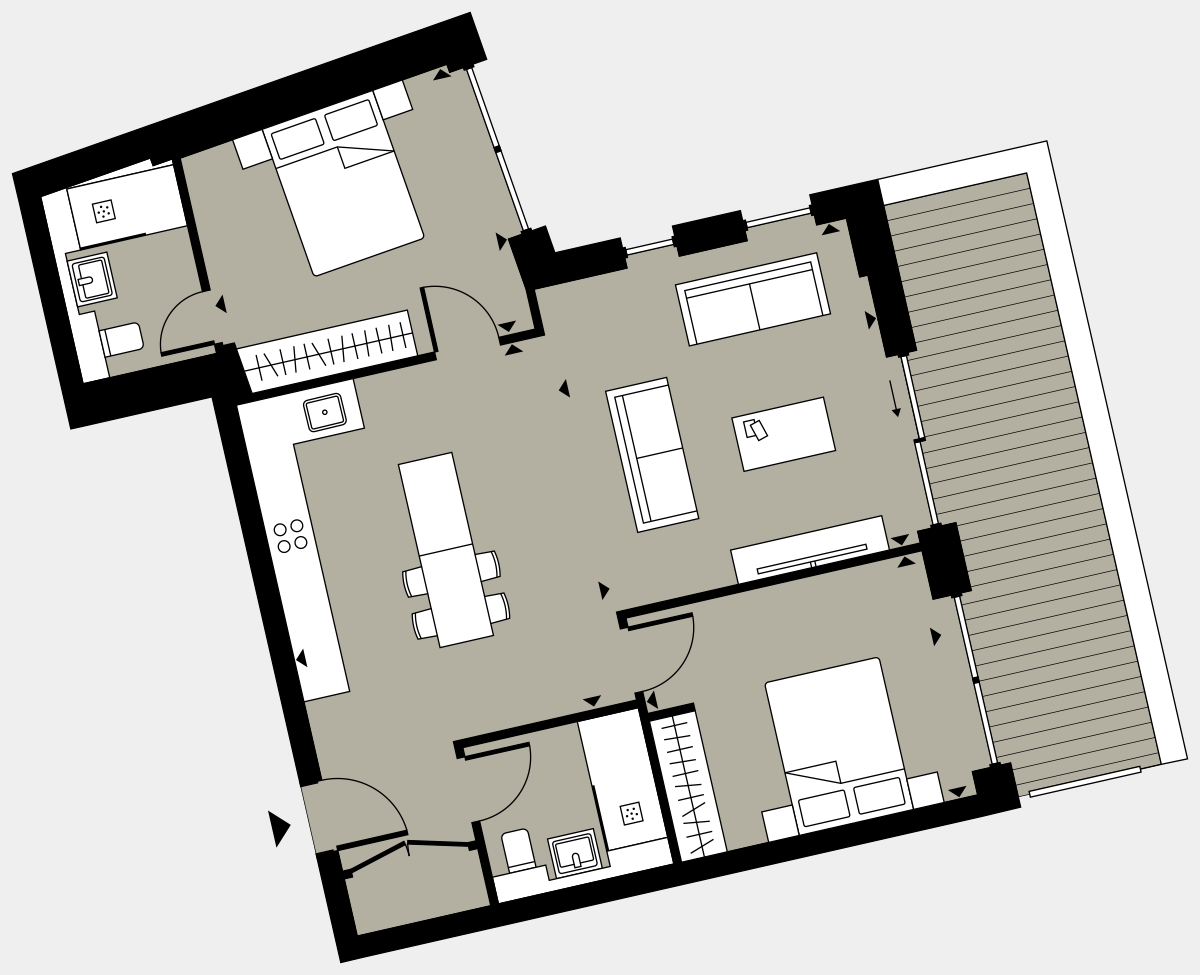 Brigade Court London SE1 Apartment floorplan - L4 16 Walton-Clark-House