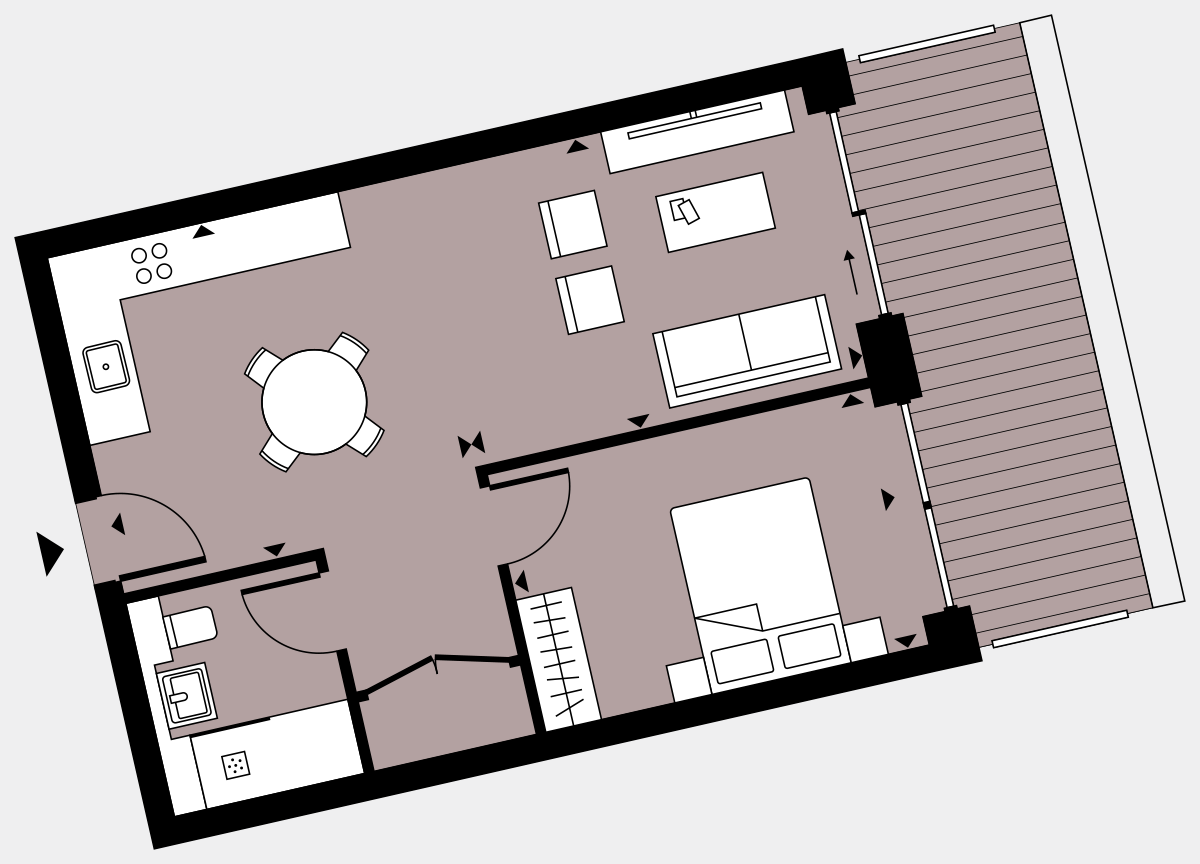 Brigade Court London SE1 Apartment floorplan - L4 17 Walton-Clark-House