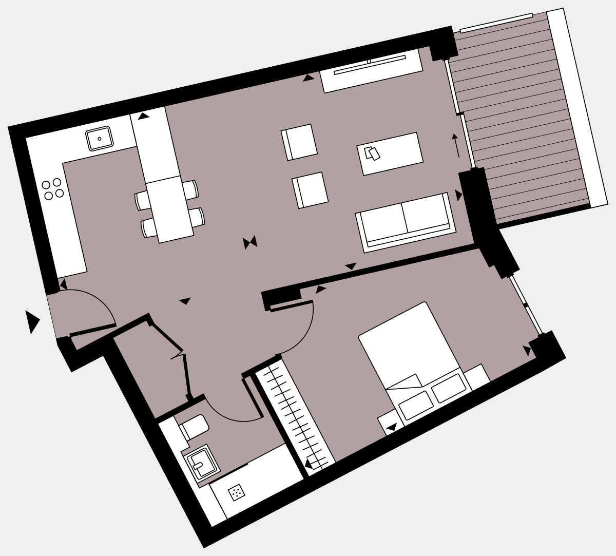 Brigade Court London SE1 Apartment floorplan - L4 19 Walton-Clark-House