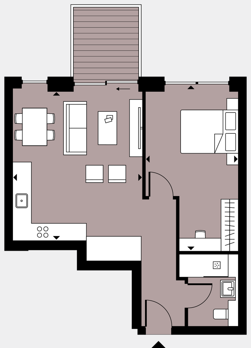 Brigade Court London SE1 Apartment floorplan - L4 27 Errington House