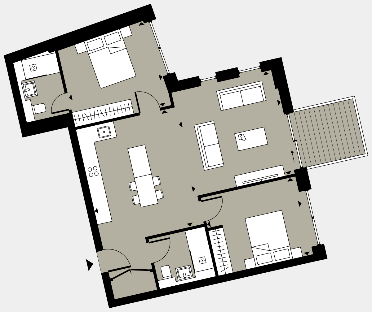 Brigade Court London SE1 Apartment floorplan - L5 25 Walton-Clark-House