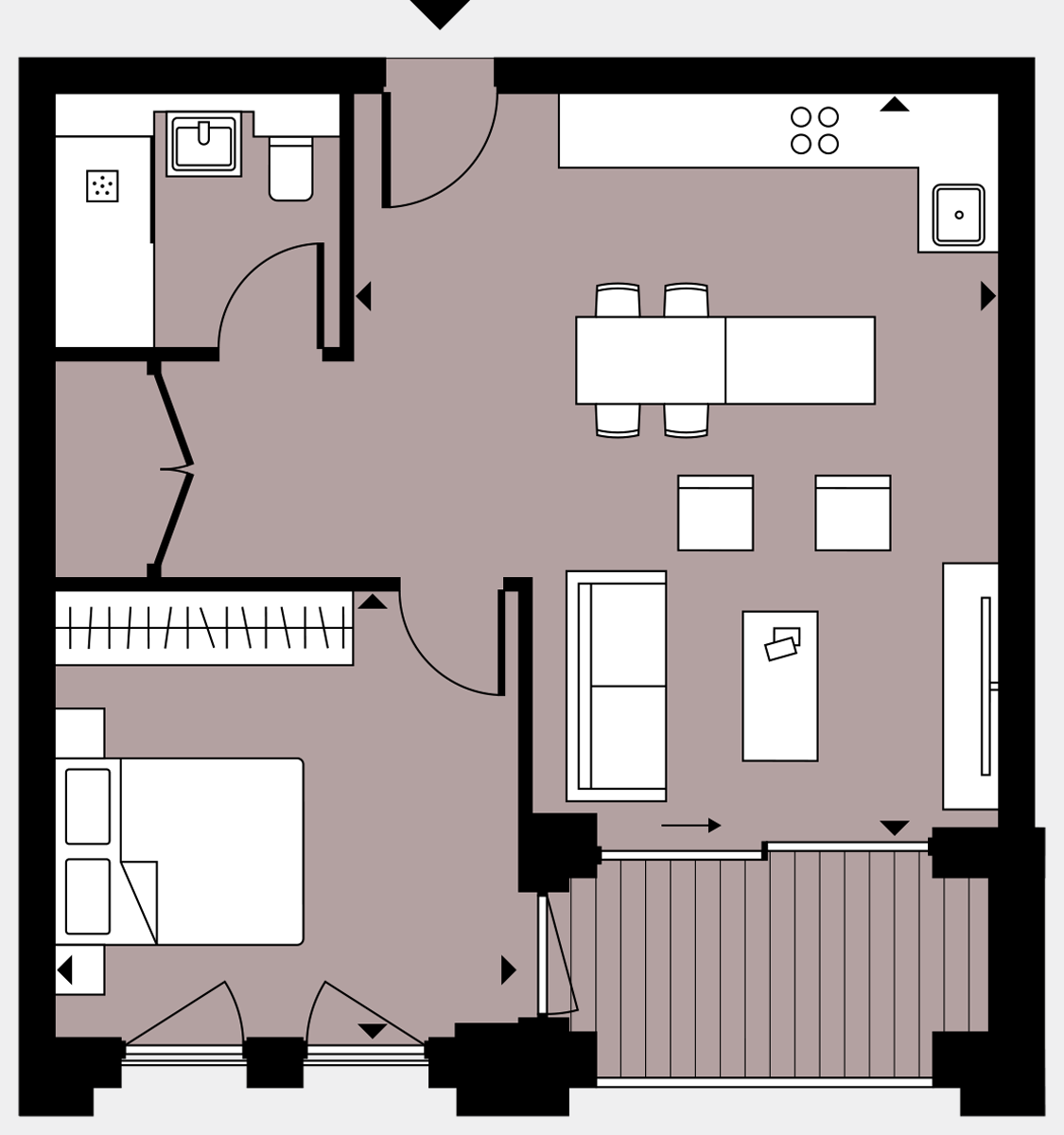 Brigade Court London SE1 Apartment floorplan - L5 41 Errington House