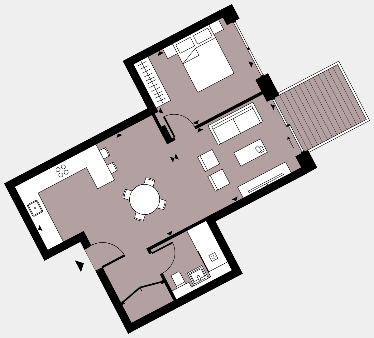 Brigade Court London SE1 Apartment floorplan - L5 49 Errington House