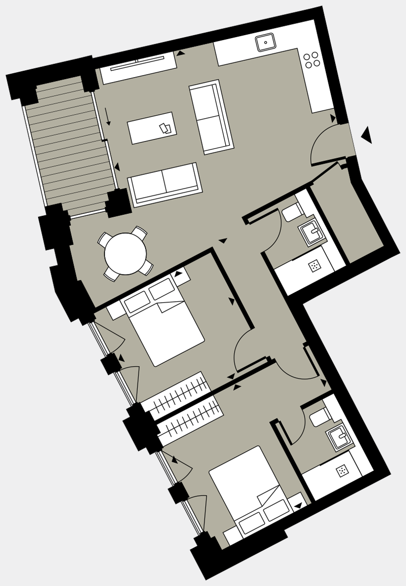 Brigade Court London SE1 Apartment floorplan - L6 30 Walton-Clark-House