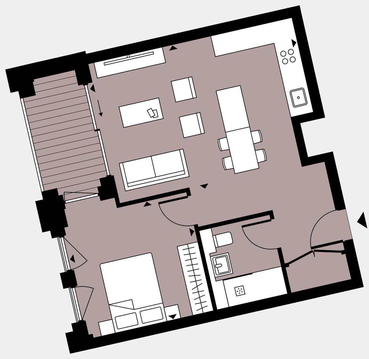 Brigade Court London SE1 Apartment floorplan - L6 32 Walton-Clark-House