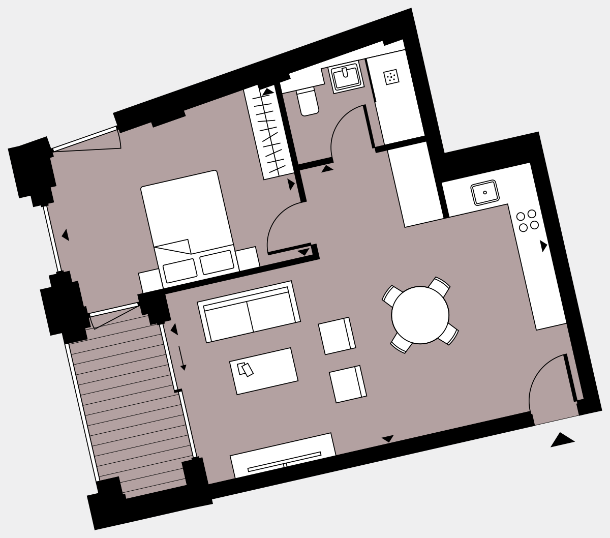 Brigade Court London SE1 Apartment floorplan - L6 33 Walton-Clark-House
