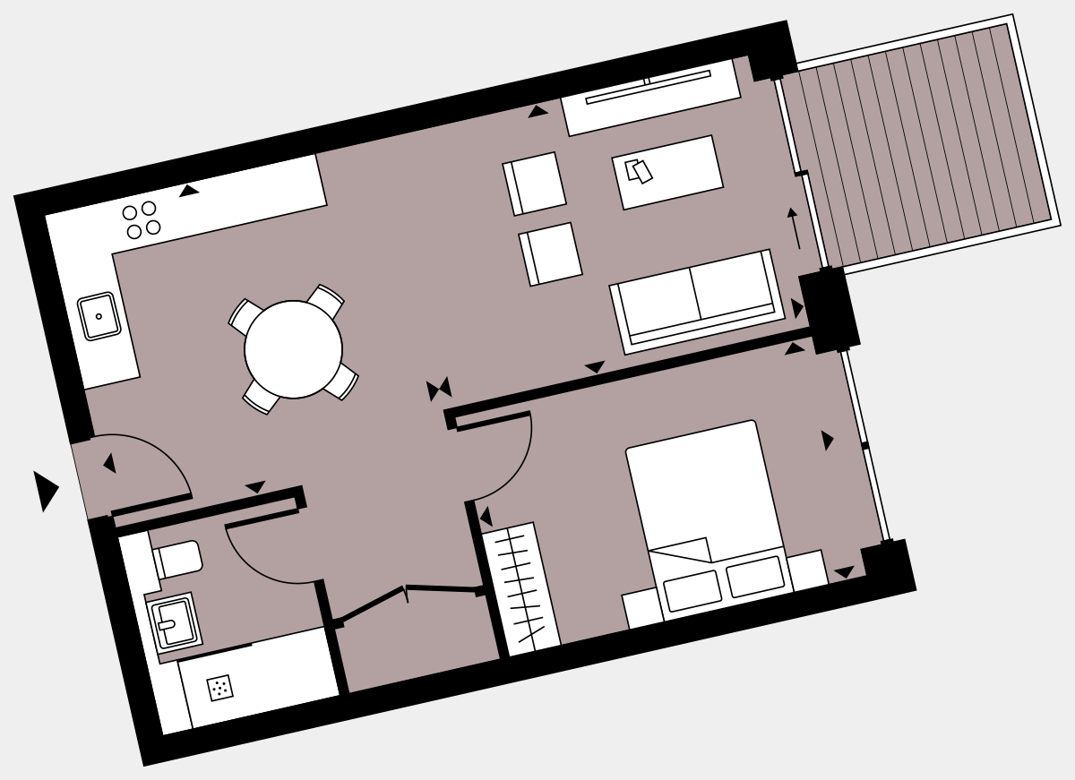 Brigade Court London SE1 Apartment floorplan - L6 35 Walton-Clark-House