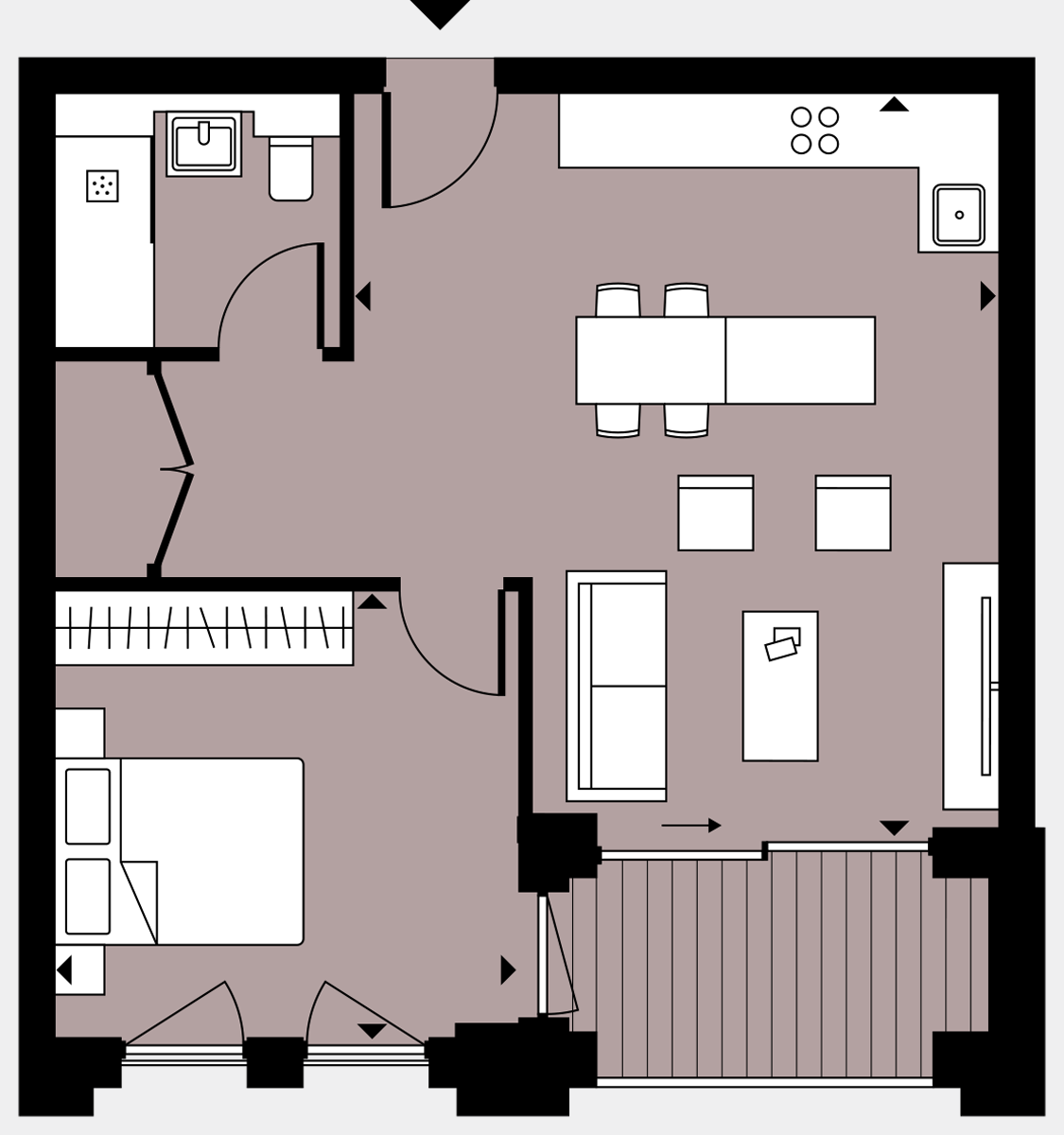 Brigade Court London SE1 Apartment floorplan - L6 53 Errington House