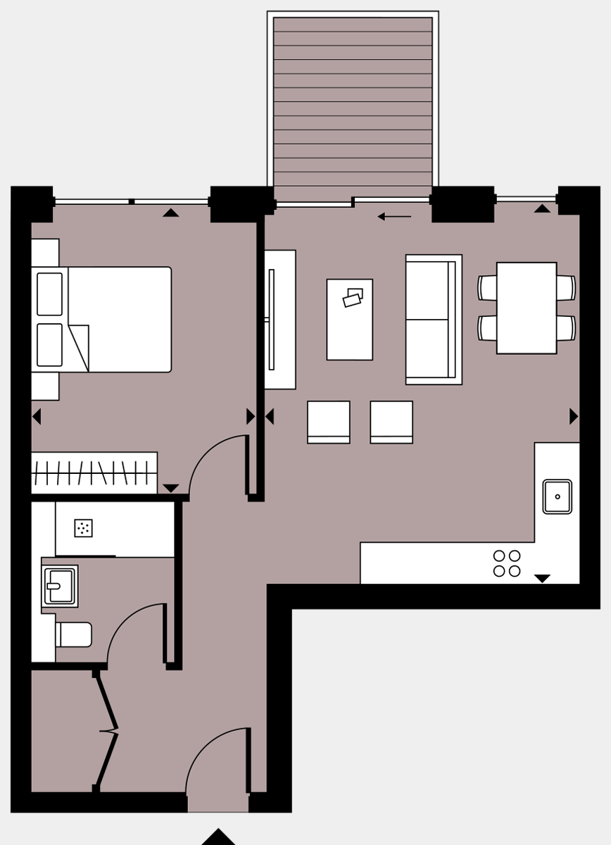 Brigade Court London SE1 Apartment floorplan - L6 56 Errington House