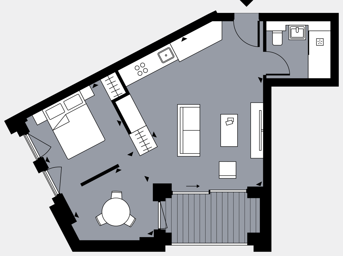 Brigade Court London SE1 Apartment floorplan - L6 58 Errington House