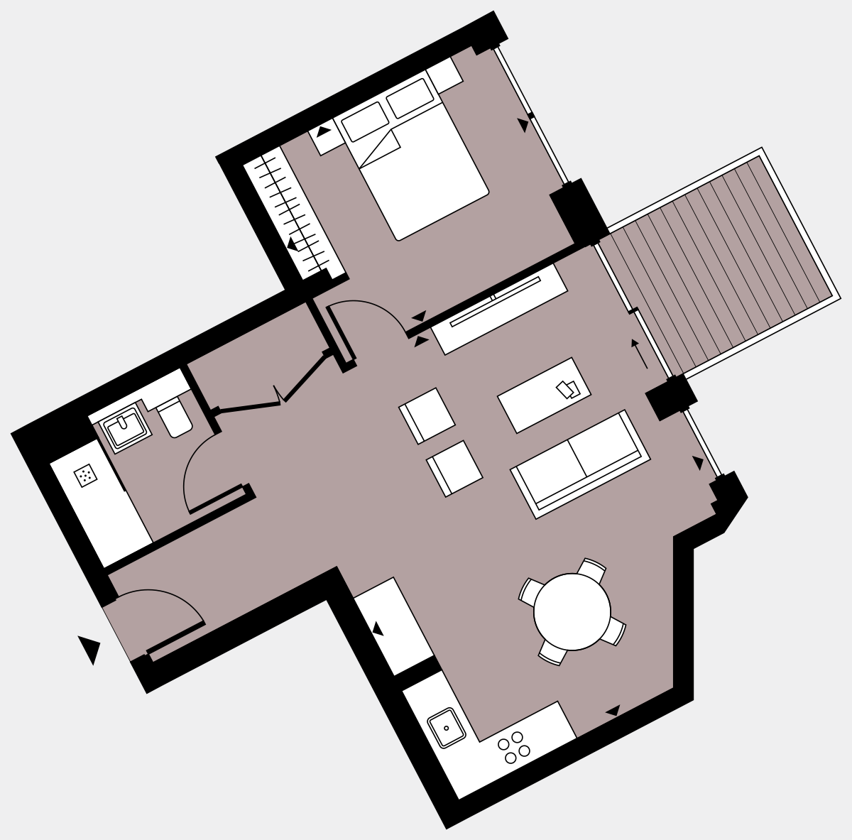Brigade Court London SE1 Apartment floorplan - L6 62 Errington House