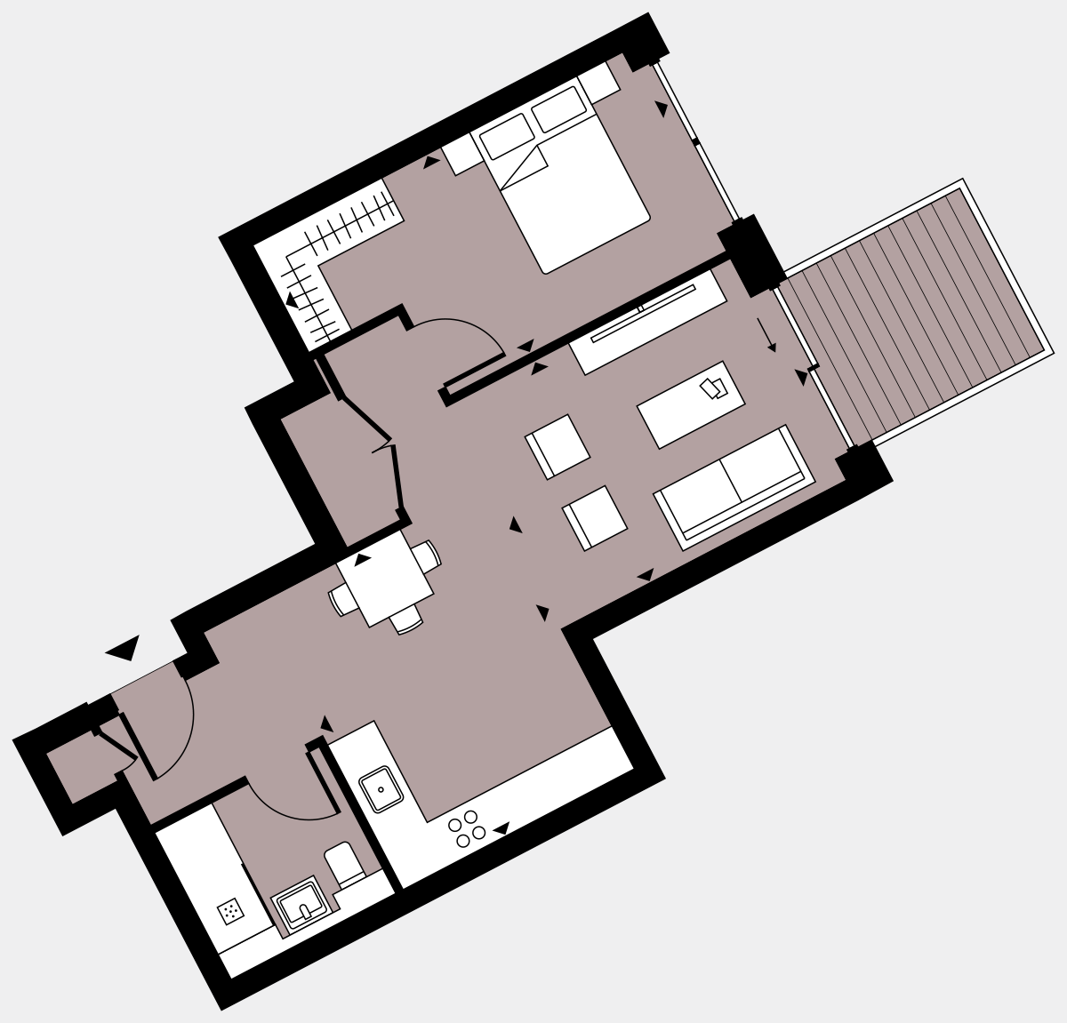 Brigade Court London SE1 Apartment floorplan - L7 38 Walton-Clark-House