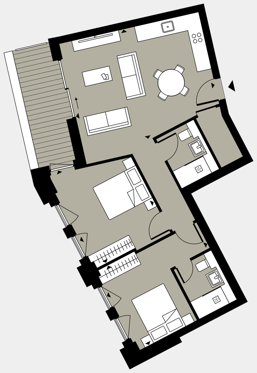 Brigade Court London SE1 Apartment floorplan - L7 39 Walton-Clark-House
