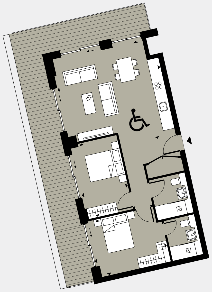 Brigade Court London SE1 Apartment floorplan - L7 40 Walton-Clark-House