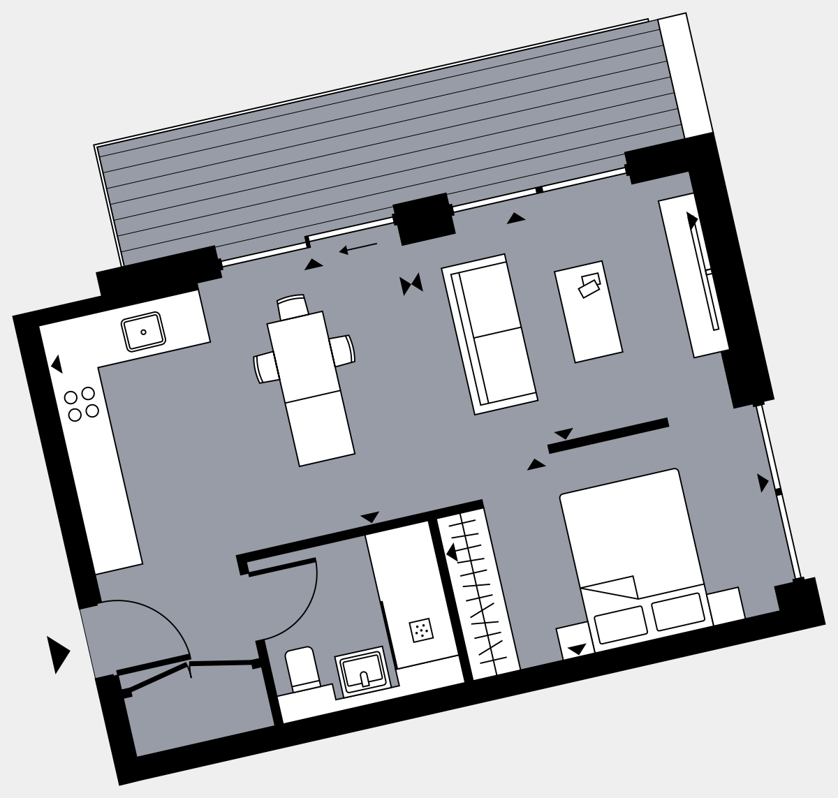 Brigade Court London SE1 Apartment floorplan - L7 41 Walton-Clark-House