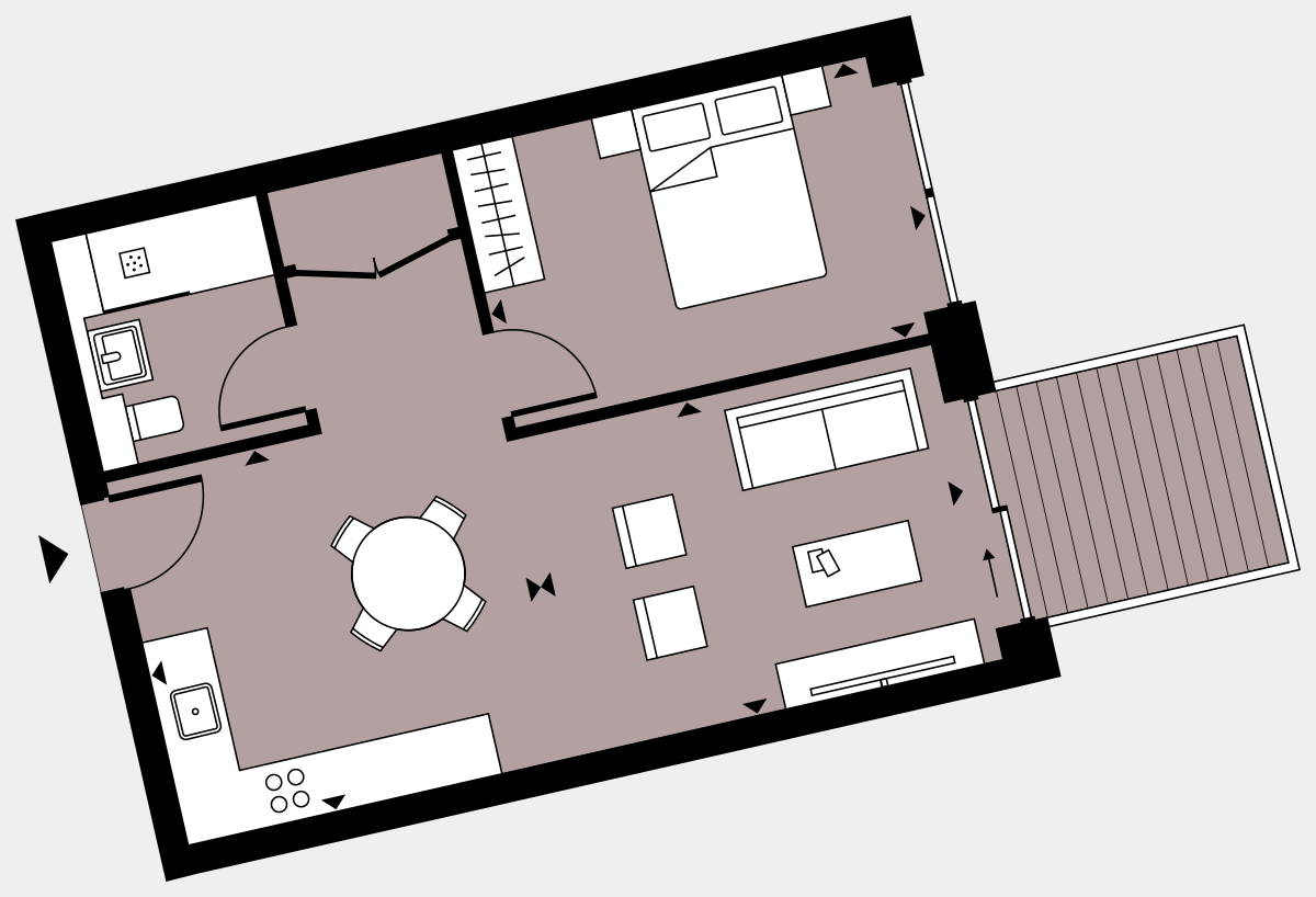 Brigade Court London SE1 Apartment floorplan - L7 42 Walton-Clark-House