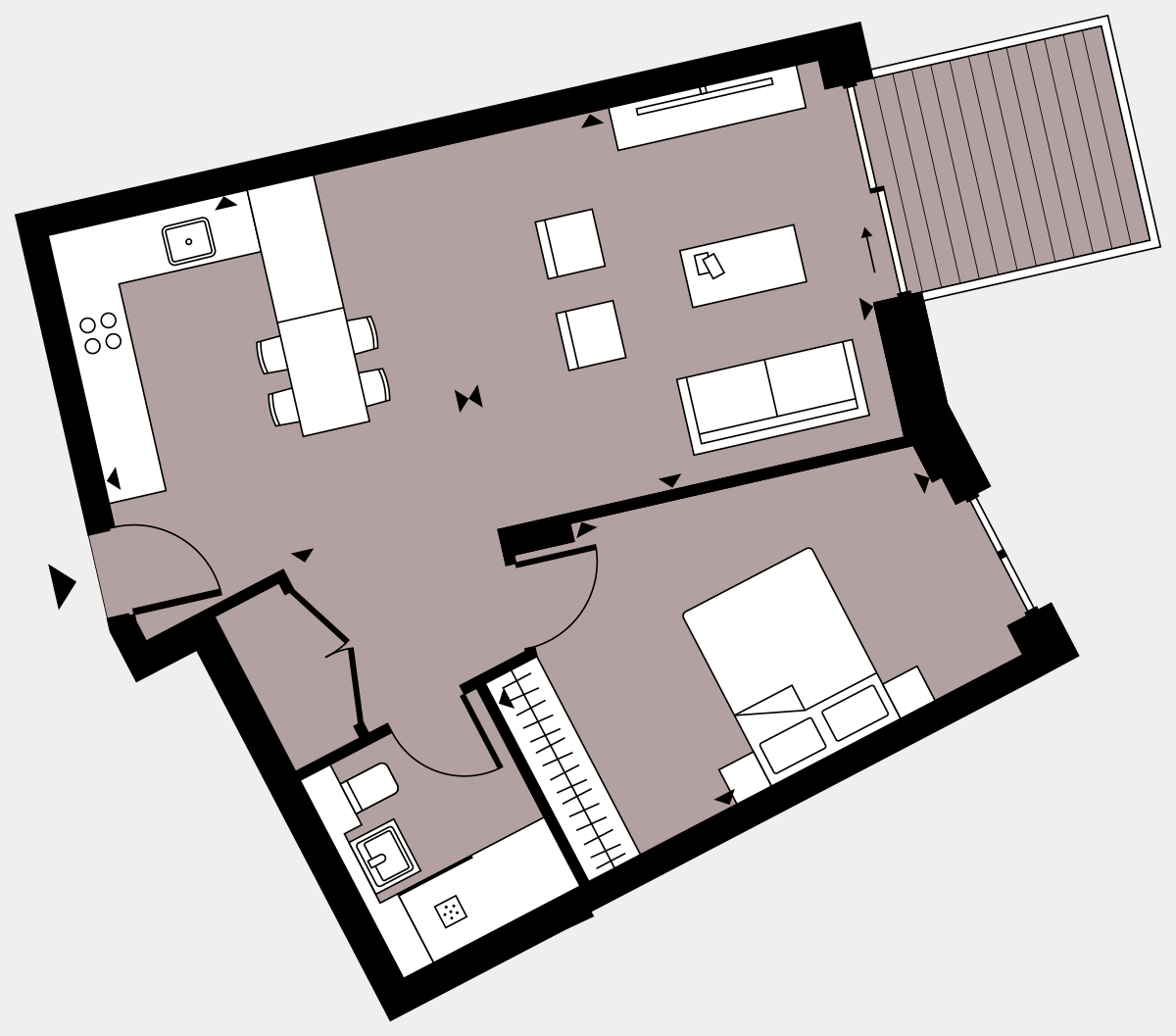 Brigade Court London SE1 Apartment floorplan - L7 43 Walton-Clark-House
