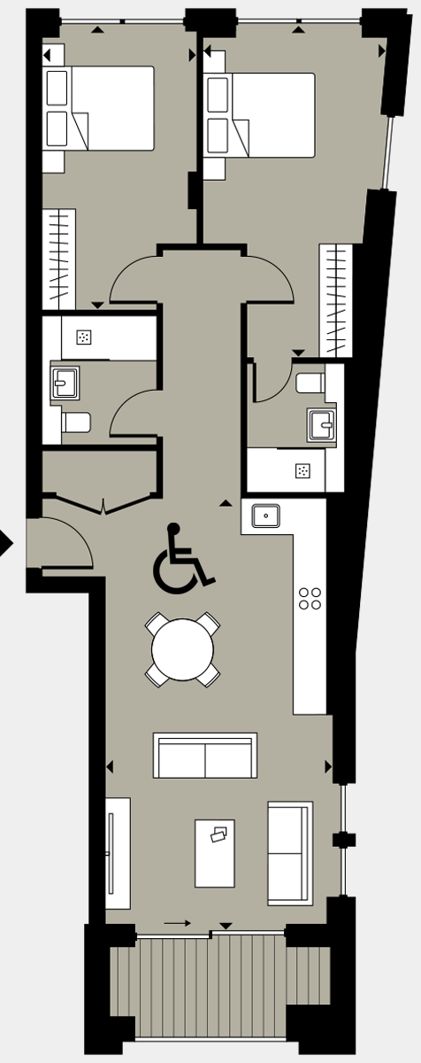 Brigade Court London SE1 Apartment floorplan - L7 64 Errington House