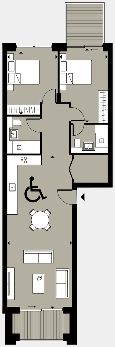Brigade Court London SE1 Apartment floorplan - L7 67 Errington House