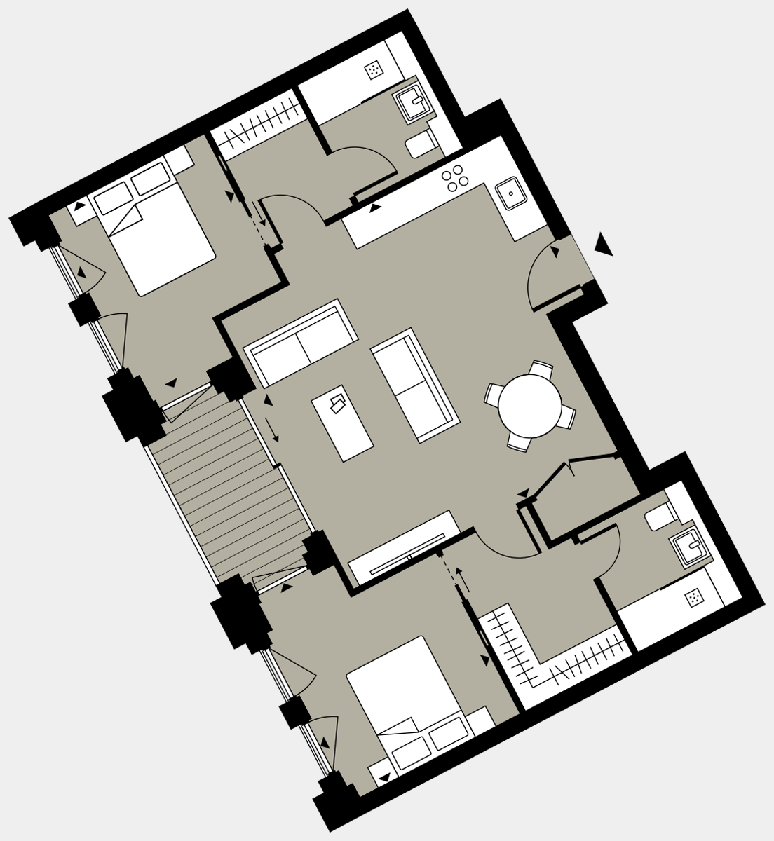 Brigade Court London SE1 Apartment floorplan - L7 71 Errington House
