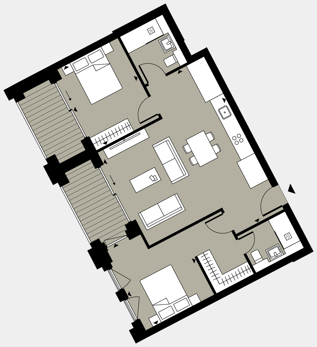 Brigade Court London SE1 Apartment floorplan - L7 72 Errington House