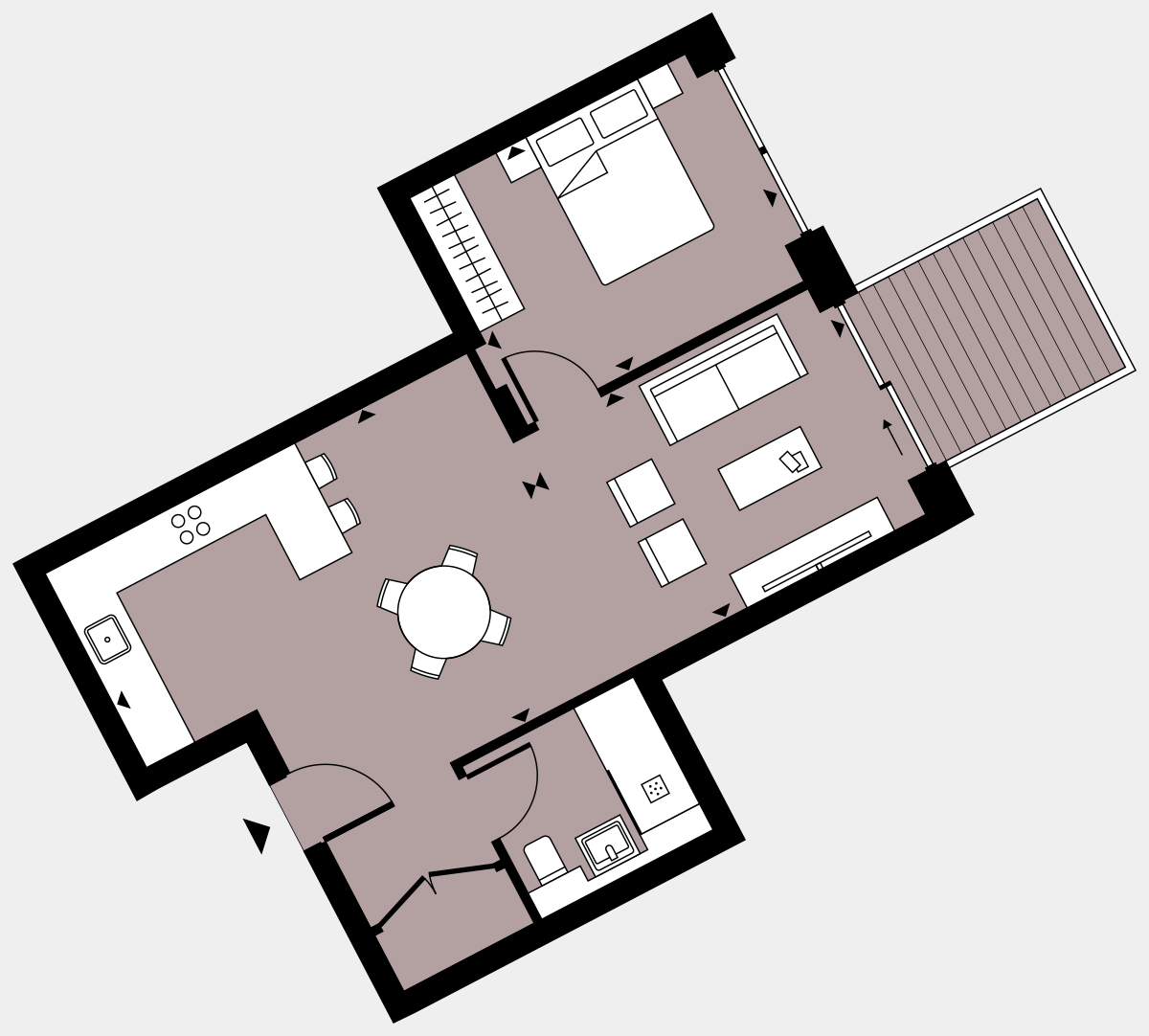 Brigade Court London SE1 Apartment floorplan - L7 73 Errington House