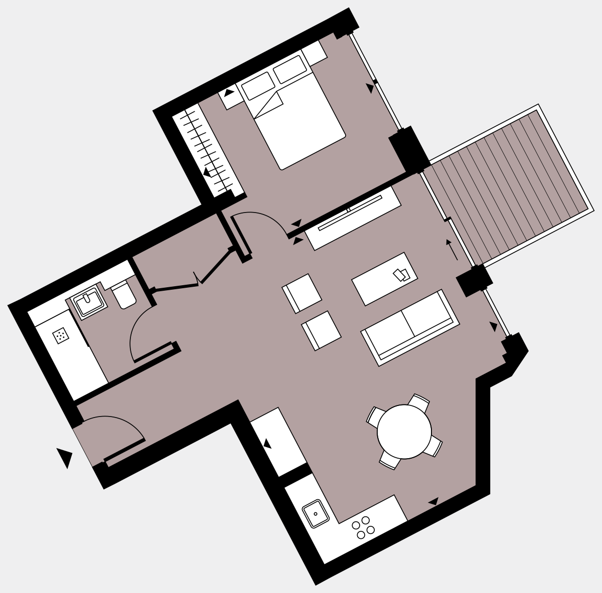 Brigade Court London SE1 Apartment floorplan - L7 74 Errington House