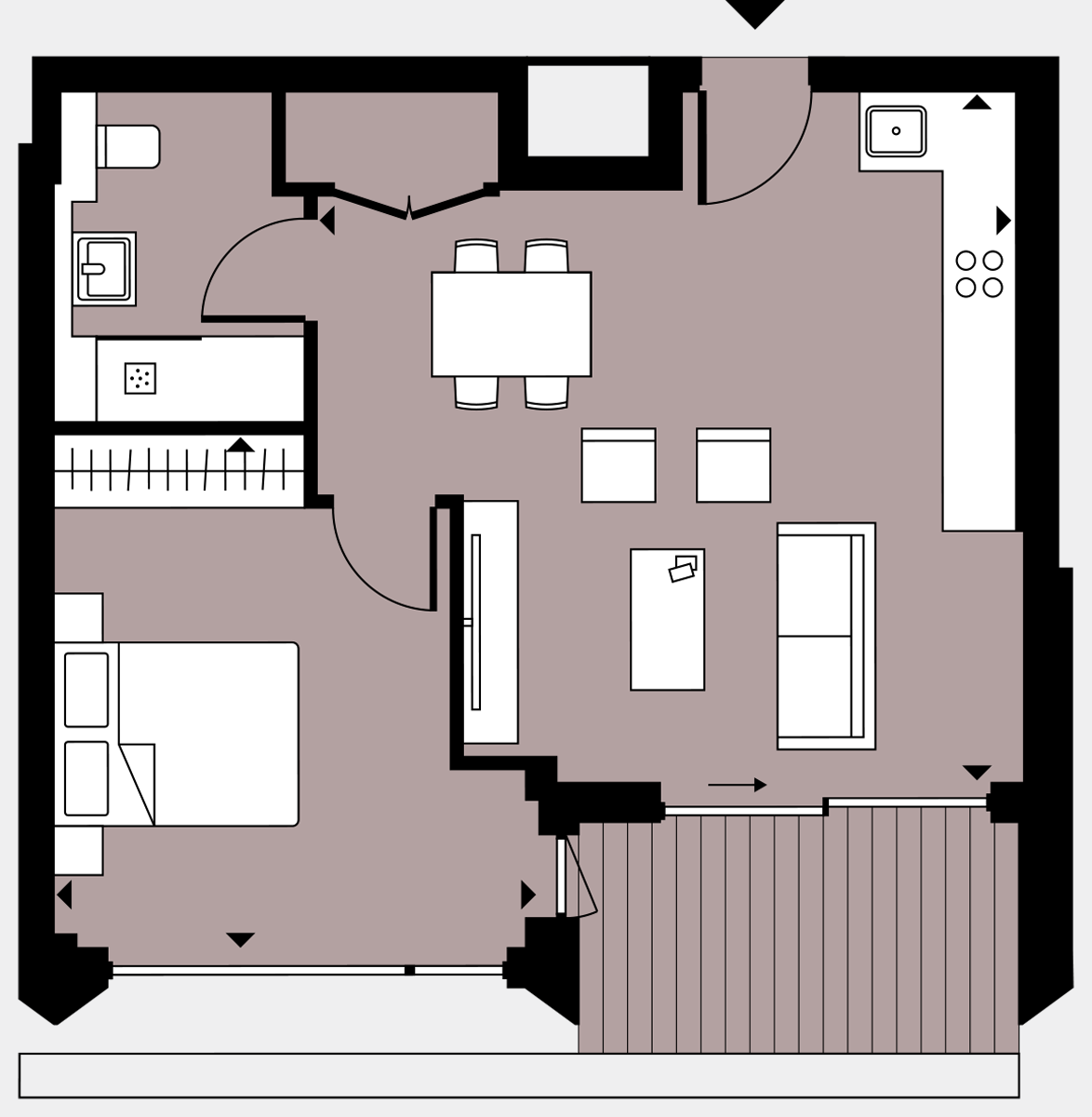 Brigade Court London SE1 Apartment floorplan - L8 77 Errington House