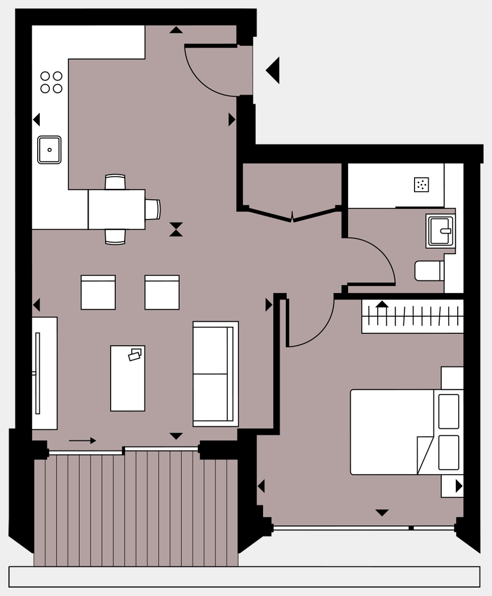 Brigade Court London SE1 Apartment floorplan - L8 78 Errington House