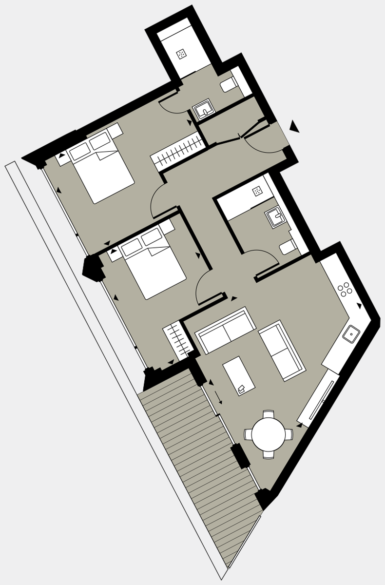 Brigade Court London SE1 Apartment floorplan - L8 82 Errington House